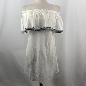 ELAN White Dress with Black Trim